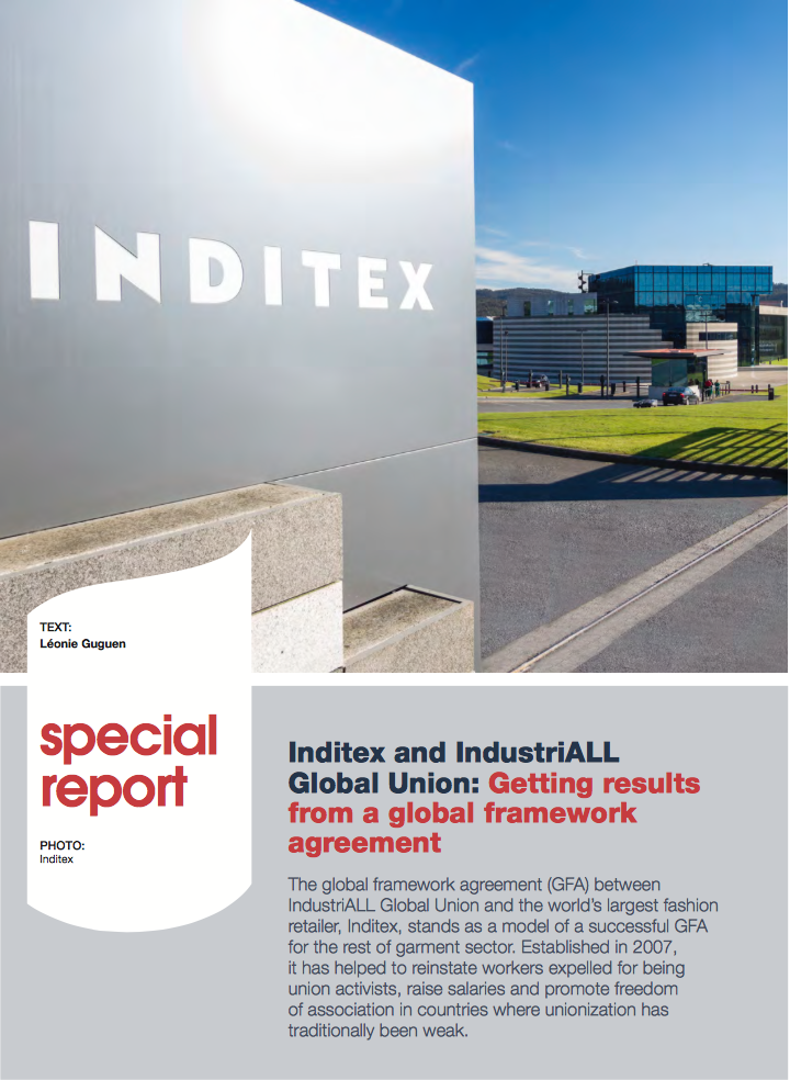 SPECIAL REPORT: Inditex and IndustriALL Global Union