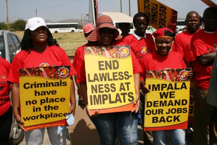 NUM members protest