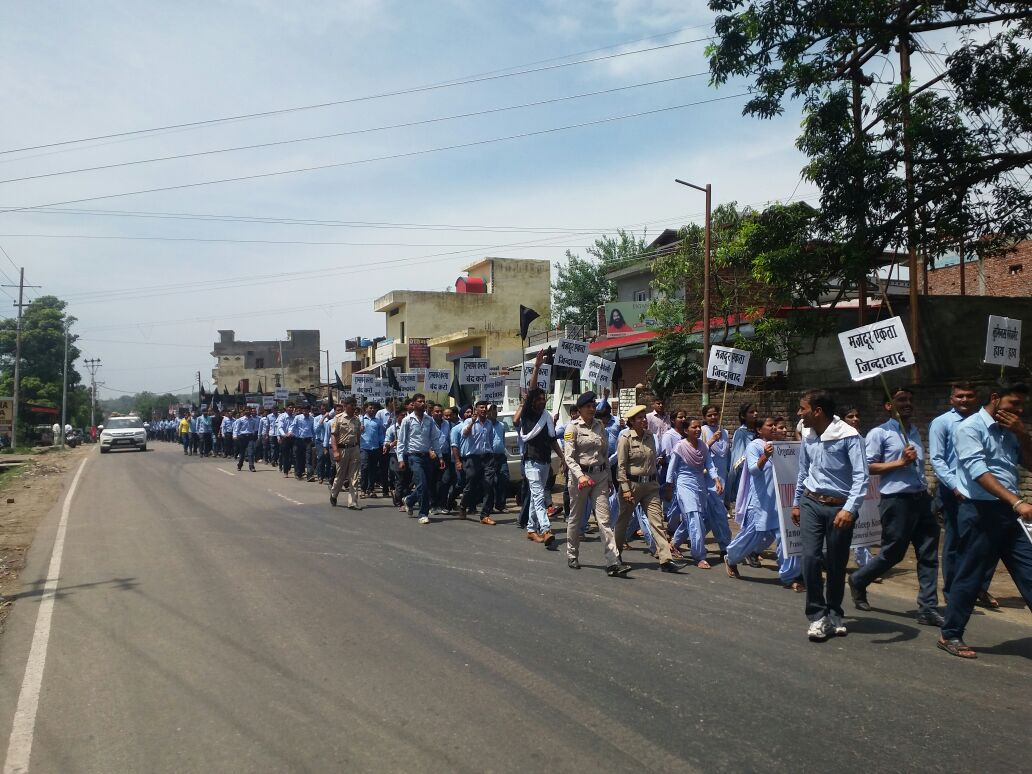 Schneider electric workers rally for union rights in india industriall - Schneider electric india offices ...