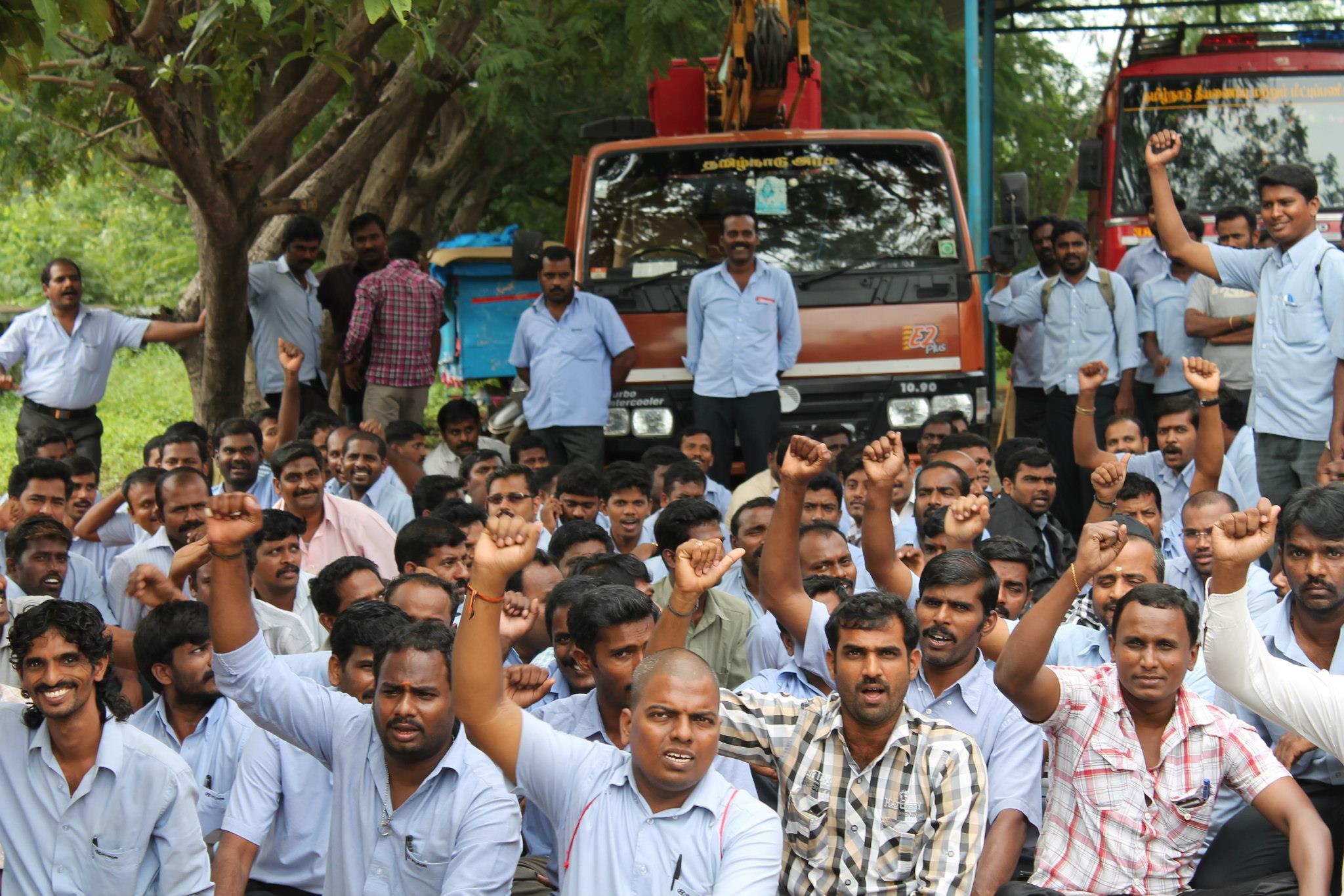 Hyundai Motor India Workers On Strike Industriall